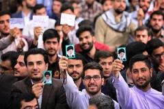 دیدار صمیمی و متفاوت میان رهبر انقلاب و دانشجویان