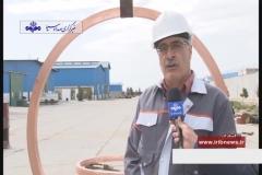 تولید رینگ دو و نیم متری مسی در اسفراین برای نخستین بار در خاورمیانه
